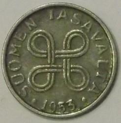 Münze > 1Mark, 1953 - Finnland  (Nickel plated Iron) - obverse