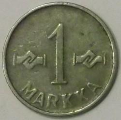 Münze > 1Mark, 1953 - Finnland  (Nickel plated Iron) - reverse
