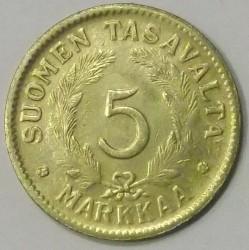 Münze > 5Mark, 1947 - Finnland  - reverse
