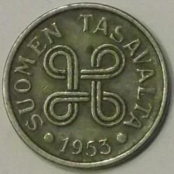 Münze > 5Mark, 1953 - Finnland  (Nickel plated Iron) - obverse