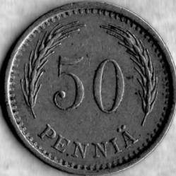 Кованица > 50пенија, 1921-1940 - Финска  - reverse