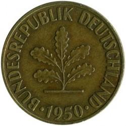 Coin > 10pfennig, 1950 - Germany  - obverse