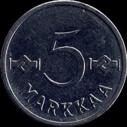 Münze > 5Mark, 1958 - Finnland  - reverse