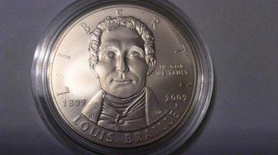1 Dollar 2009 Louis Braille Usa Münzen Wert Ucoinnet