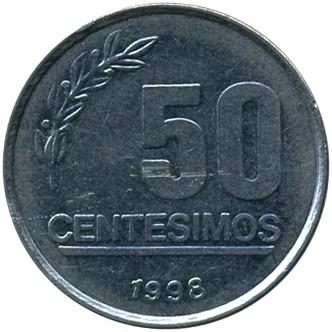 50 cent simi 1994 2008 uruguay km 106 catalogo for Moneta 50 centesimi