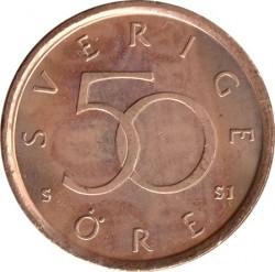 Moneda > 50ore, 1992-2009 - Suecia  - reverse