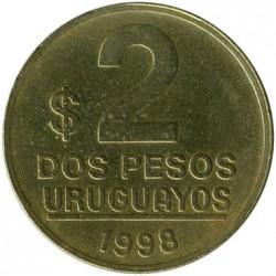 Moneta > 2pesai, 1998-2007 - Urugvajus  - reverse