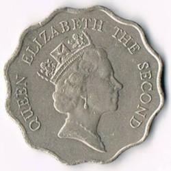 Moneta > 2doleriai, 1985-1992 - Honkongas  - obverse