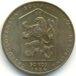 Moneta > 50corone, 1986 - Cecoslovacchia  (Český Krumlov) - obverse