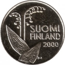 Coin > 10penniä, 1990-2001 - Finland  - obverse