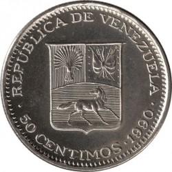 Münze > 50Centimos, 1988-1990 - Venezuela  - obverse