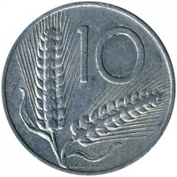 Coin > 10lire, 1956 - Italy  - obverse