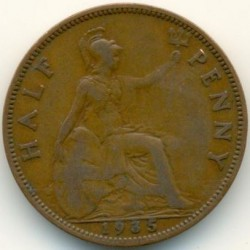 Moeda > ½pence, 1928-1936 - Reino Unido  - reverse