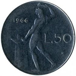 سکه > 50لیره, 1966 - ایتالیا  - reverse