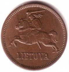 سکه > 5سنتا, 1936 - لیتوانی  - reverse