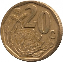 Монета > 20центів, 2004-2017 - Південно-Африканська Республіка  - reverse