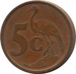 Moneta > 5centów, 1996-2000 - Afryka Południowa  - reverse