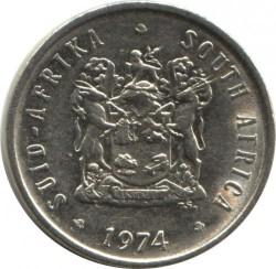 Moneta > 5centów, 1970-1989 - Afryka Południowa  - obverse