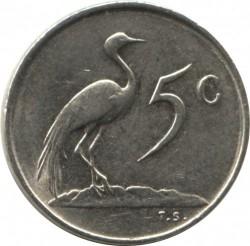 Moneta > 5centów, 1970-1989 - Afryka Południowa  - reverse
