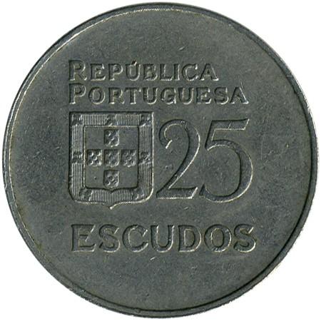 25 Escudos 1980 1986 Portugal Münzen Wert Ucoinnet