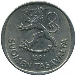 Moneta > 1markka, 1969-1993 - Finlandia  - obverse