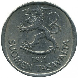 Moneta > 1markka, 1969-1993 - Finlandia  - reverse