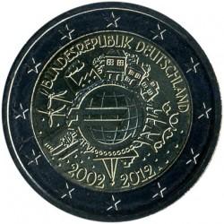 Minca > 2euro, 2012 - Nemecko  (10 Years of Euro Cash) - obverse