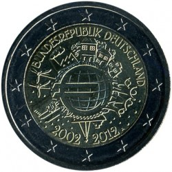 Minca > 2euro, 2012 - Nemecko  (10 Years of Euro Cash) - reverse