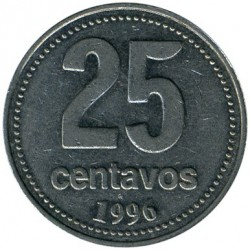 Coin > 25centavos, 1996 - Argentina  - obverse