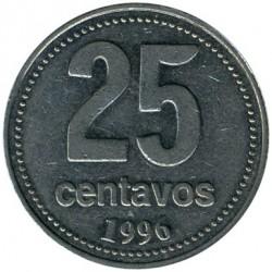 Coin > 25centavos, 1996 - Argentina  - reverse