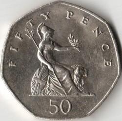 Moneta > 50pensų, 1982-1984 - Jungtinė Karalystė  - reverse