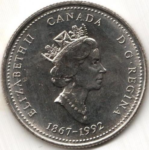 1867-1992 PEI CANADA 25 Cent Prince Edward Island Provincial Coin UNC