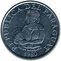العملة > 5غواراني, 1980 - براغواي  - obverse