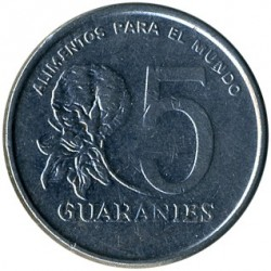 Moneta > 5guarani, 1980 - Paragwaj  - obverse
