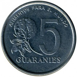 Coin > 5 guaranies, 1978-1986 - Paraguay  - obverse