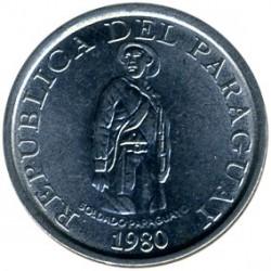 Coin > 1guarani, 1980 - Paraguay  - obverse