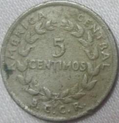 """Moneta > 5sentimai, 1951 - Kosta Rika  (Užrašas """"B.C.C.R."""" žemiau vainiko) - reverse"""