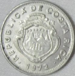 Монета > 5сентимів, 1972-1973 - Коста-Ріка  - obverse