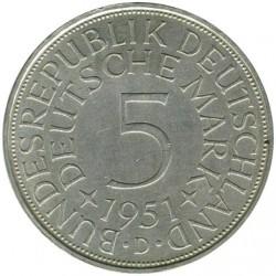 Moneta > 5marek, 1951 - Niemcy  - reverse