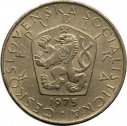 Munt > 5korun, 1966-1990 - Tsjecho-Slowakije  - obverse