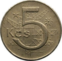 Moneta > 5koron, 1966-1990 - Czechosłowacja  - obverse