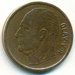 Mynt > 5ore, 1969 - Norge  - obverse