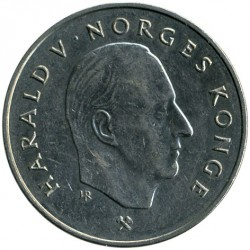 Moneta > 5corone, 1992-1994 - Norvegia  - obverse