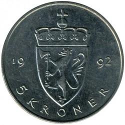 Moneta > 5corone, 1992-1994 - Norvegia  - reverse