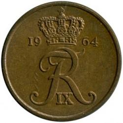 Münze > 2Öre, 1960-1966 - Dänemark   - obverse