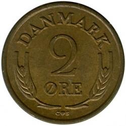 Münze > 2Öre, 1960-1966 - Dänemark   - reverse