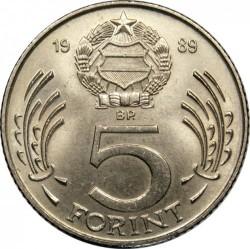 Νόμισμα > 5Φιορίνια, 1983-1989 - Ουγγαρία  - reverse