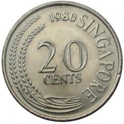 Moneda > 20centavos, 1967-1984 - Singapur  - obverse