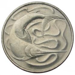 Moneda > 20centavos, 1967-1984 - Singapur  - reverse