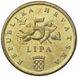 Münze > 5Lipa, 1993-2017 - Kroatien   - reverse
